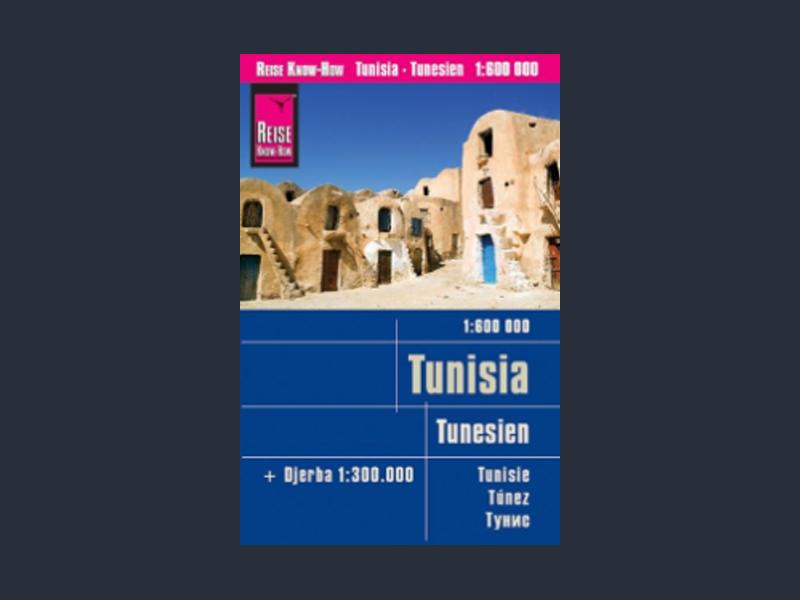 Tipp: Reißfeste Landkarte Tunesien (1:600.000) mit Djerba (1:300.000)